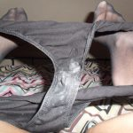 used panties black cum stained