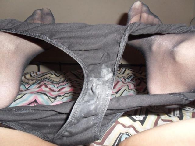 used panties black cum stained