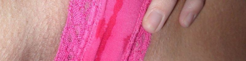 used panties pink cotton cum soaked