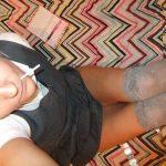 used_panties_school_girl_long_grey_socks_14