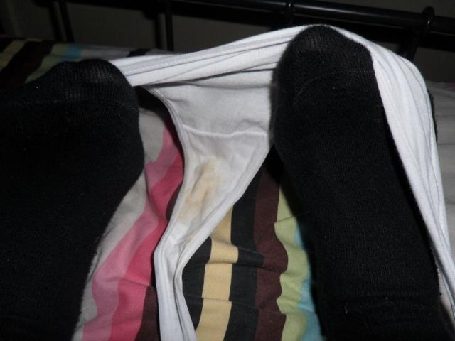 worn panties dirty white