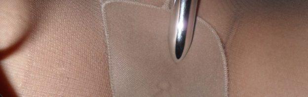 worn tights tan